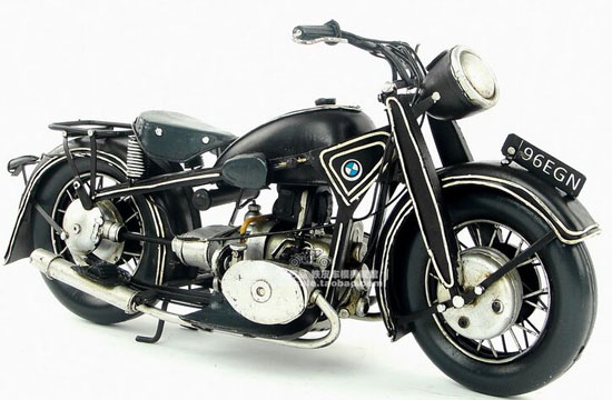 Medium Scale Black Handmade Tinplate 1923 BMW R32 Model