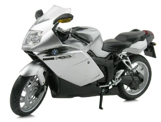 Silver / Blue / Yellow 1:12 Scale Die-Cast BMW K1200S Model
