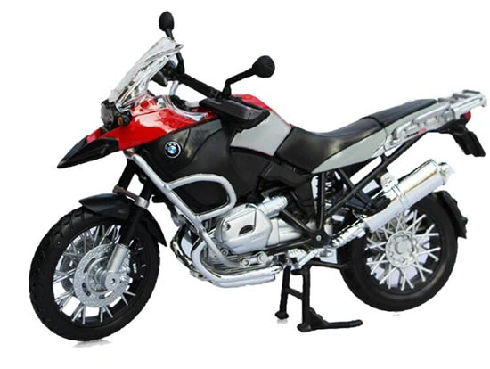 1:12 Red / Yellow MaiSto Die-Cast BMW R1200GS Motorcycle