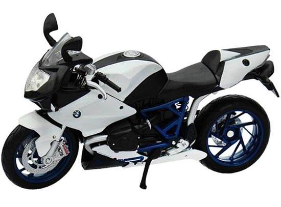 1:12 Scale Maisto White Die-Cast BMW HP2 Sport Motorcycle