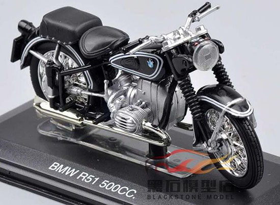 1:22 Black Italeri Die-Cast BMW R51 500cc Motorcycle Model
