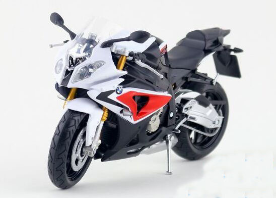 1:12 Scale Black / Red / Gray / Blue Die-Cast BMW S1000RR Model