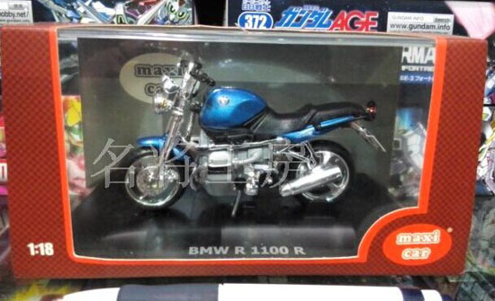 1:18 Blue Die-Cast BMW R 1100 R Motorcycle Model