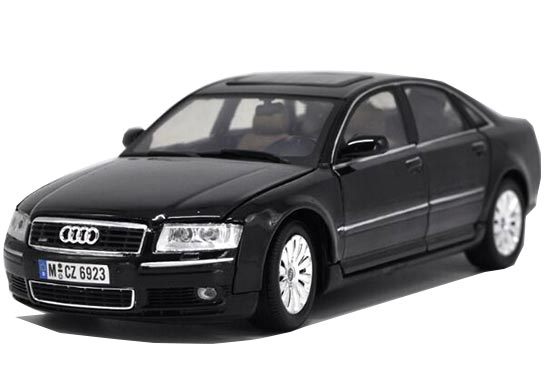 Black 1:18 Scale MotorMax Diecast Audi A8 Model