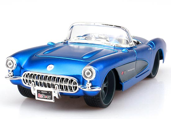 1:24 Scale Maisto Blue Diecast 1957 Chevrolet Corvette Model