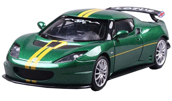Green 1:24 Scale MotorMax Diecast Lotus Evora GT4 Model
