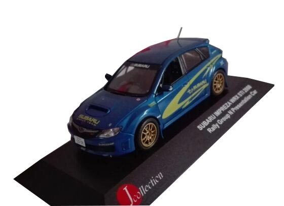 Blue 1:43 J-Collection Diecast Subaru Impreza WRX STI 2008