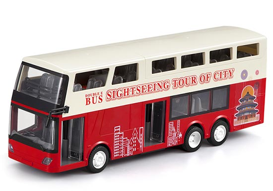 1:64 Scale Yellow NO. B3 Hong Kong RC Double Decker City Bus Toy