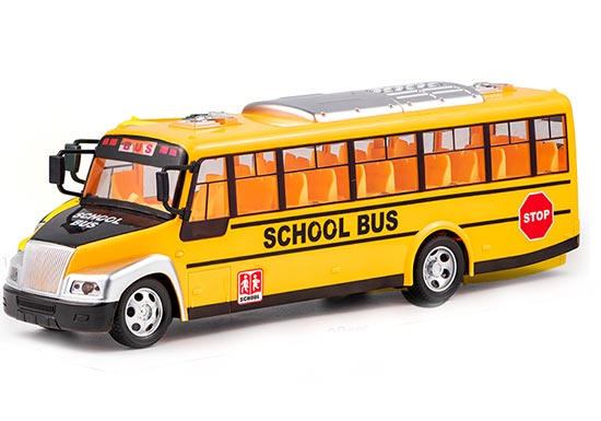 Kids Yellow RC School Bus Toy