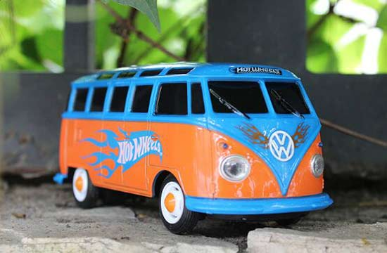 Full Functions 1:26 Scale Kids Blue-Orange R/C VW T1 Bus Toy