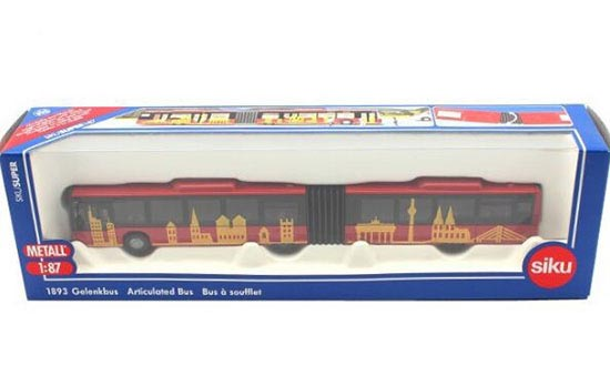 1:87 Scale Red SIKU U1893 Articulated Design Bus Toy Model