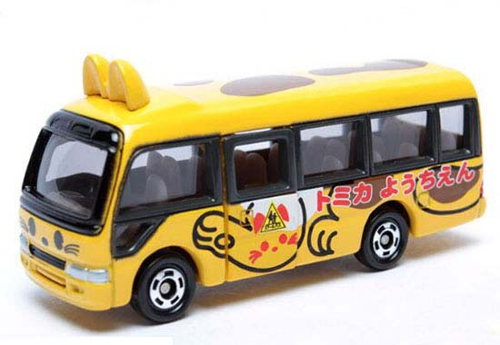 1:89 Mini Scale Kid Yellow TOMY Die-cast Kindergarten School Bus