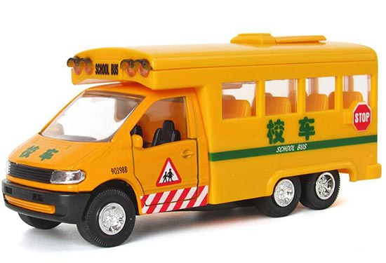 1:32 scale Kids Alloy Made Yellow School Bus Toy