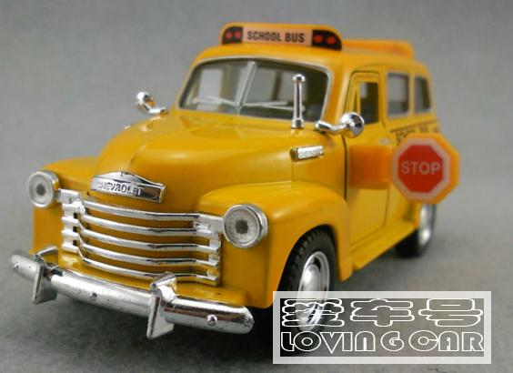 1:36 Scale 1905 Yellow alloy Made School Bus Toy