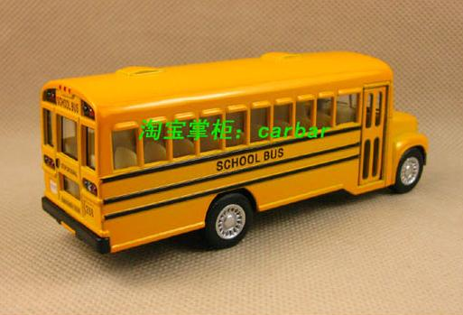 Yellow Alloy Made Kids School Toy Bus