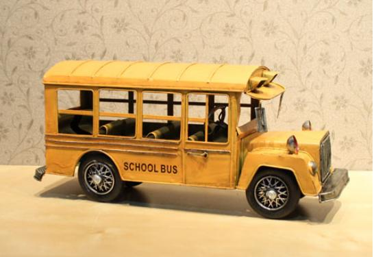Yellow England Style School Bus Model