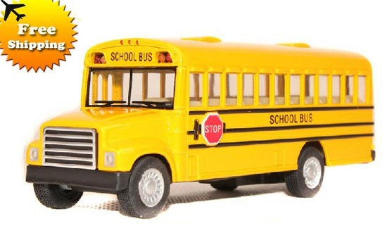 Alloy Made Classical Yellow School Bus Toy