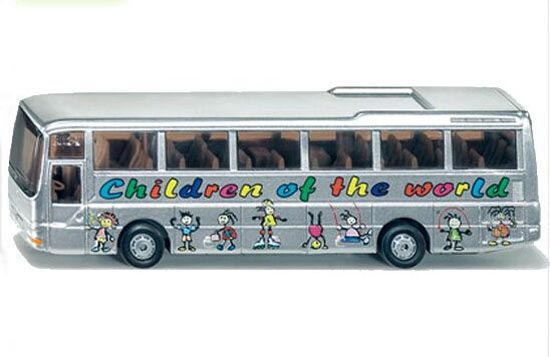 1:87 Mini Scale White SIKU Brand School Bus Toy