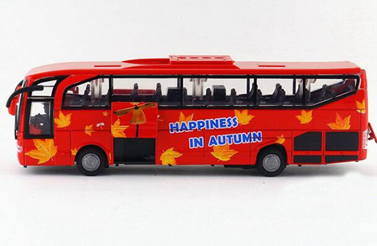 Large Scale White/ Yellow/ Red Kids School Bus with Patterns