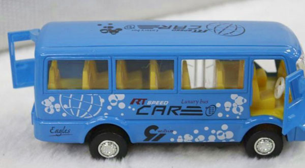 Kids 1:50 Scale Pull-Back Function Blue Coach Bus Toy