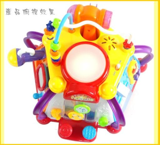 NO.806 Yellow-Red Cartoon Design Educational School Bus Toy