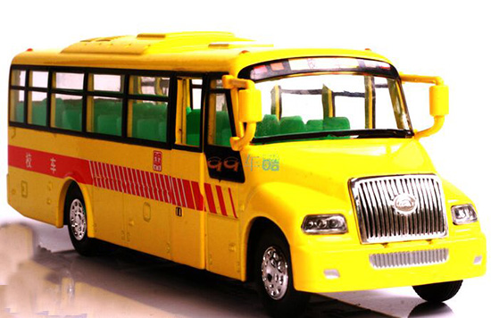 Big Nose Yellow Chinese Style School Bus Toy