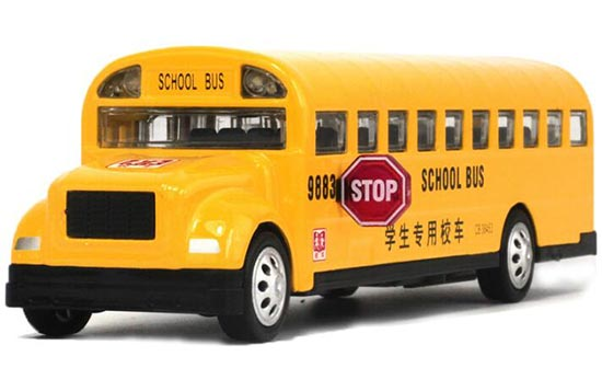 1:32 Scale NO. 9883 Kids Yellow U.S. School Bus Toy