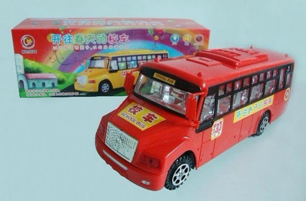 Medium Scale Kids Red Electric School Bus Toy