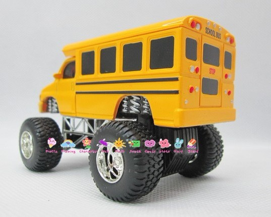 1:64 Scale Kids Yellow Big Tires School Bus Toy