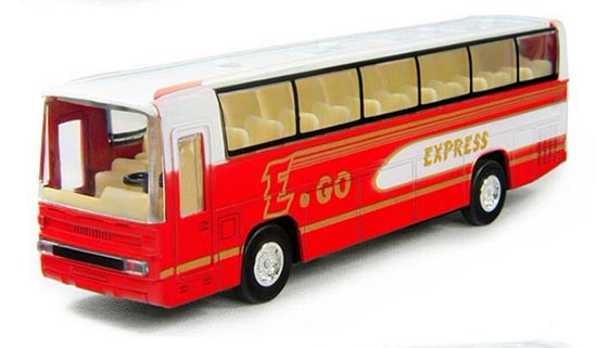 Red Alloy Made Kids Tour Bus Toy
