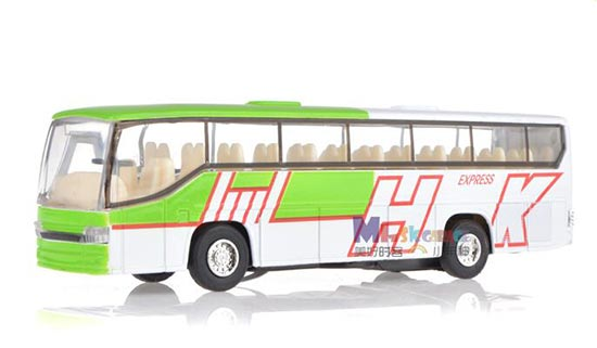 Alloy Made Kids Blue / Green Tour Bus Toy