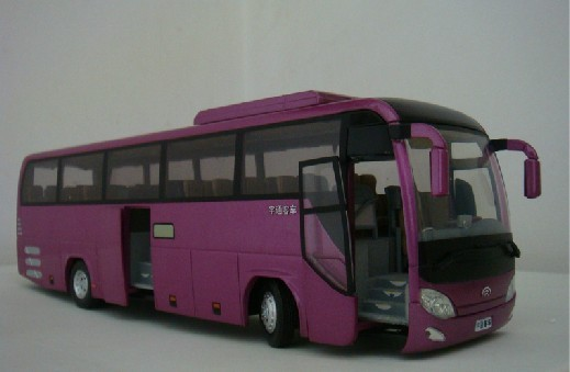 1:42 Scale Purple Alloy Made Tour Bus Toy