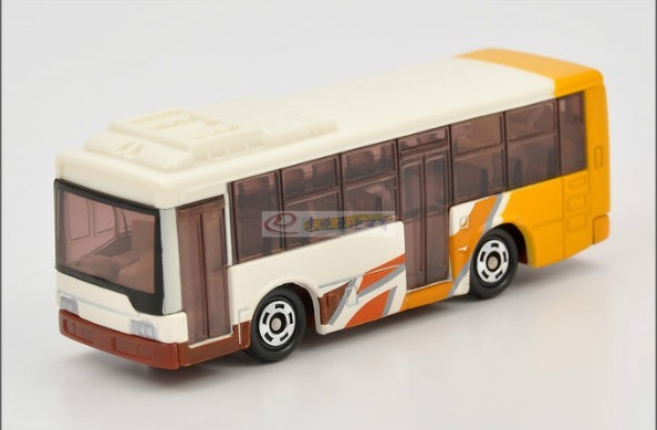 1:141 Mini Scale White 2002 Mitsubishi Fuso Aero Star Tour Bus