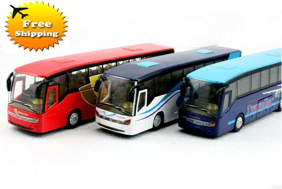 Diecast Red / White / Blue Kids Airport Express Tour Bus Toy