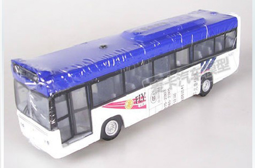 1:76 Scale Yellow / Red / Blue Pull-back Function Toy Tour Bus