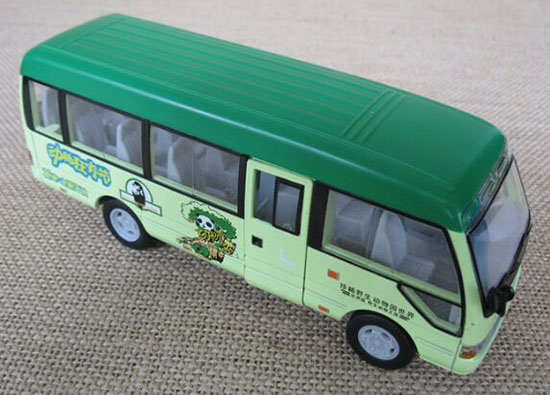 Red / Green / White Toyota Coaster Kids Coach Bus Toy