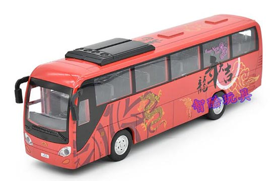 1:32 Scale Red / Green / Yellow Chinese Tour / Airport Bus Toy