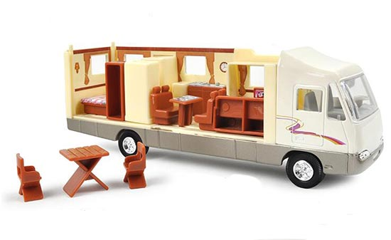 Kids Yellow / White Simulation Motor Home Bus Toy