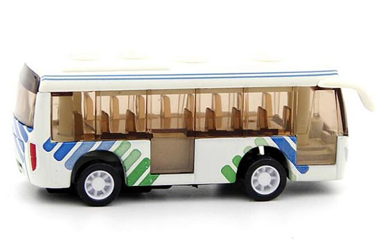 Mini Scale Kids White Tour Bus Toy
