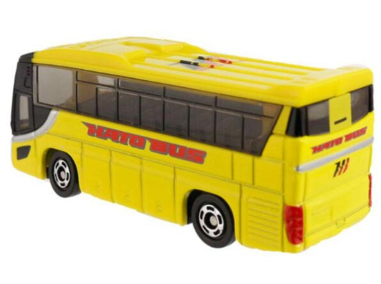 1:156 Mini Scale Yellow TOMY NO. 42 Die-cast Hato Coach Bus Toy