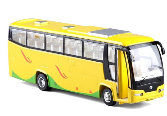 Green / Yellow / White Kids BeiJing to Hong Kong Tour Bus Toy