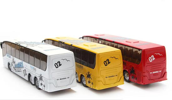 1:32 Scale Pull-back Function White / Red Kids Tour Bus Toy