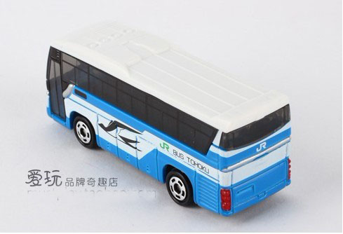 Mini Scale White-Blue TOMY ISUZU GALA JR BUS TOHOKU Tour Bus