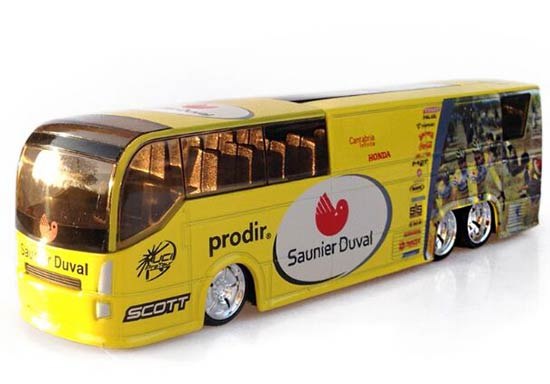 1:50 Scale Yellow Souvenir Tour de France Tour Bus Model