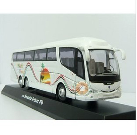 1:50 Scale White Cararama Tour Bus Model