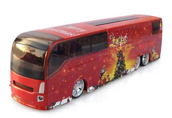 Kids Blue / Green / Red Christmas Theme Tour Bus Toy