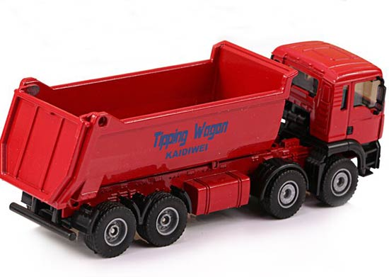 1:50 Scale Red / Blue / Yellow Kids Tipping Wagon Truck Toy