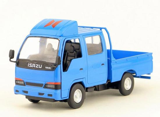 1:32 Scale White / Yellow / Blue Isuzu Light Truck Toy