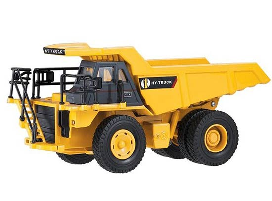 Kids 1:50 Scale Yellow Heavy Transport Truck Toy