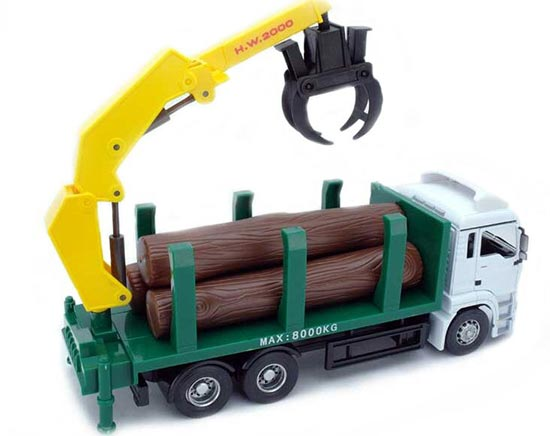 Kids 1:32 Scale White-Green Germany MAN Lift Truck Toy